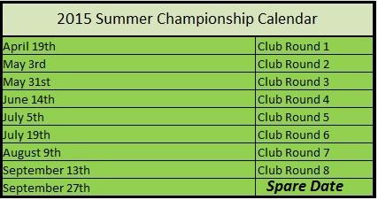 Summer Dates 2015